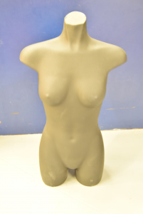 Mannequin Rubber Black Middle Bust Model Woman