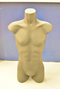 Mannequin Rubber Black Middle Bust Model Man