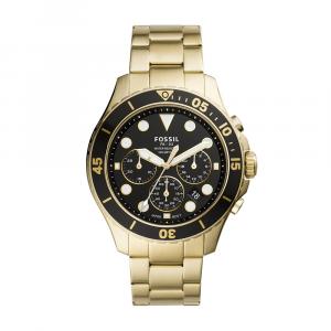 Orologio Uomo Cronografo FB-03 in acciaio, color Oro