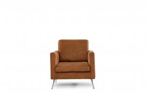 ELEADORA - Poltrona dal design lineare ed elegante in tessuto tecnico antimacchia e antigraffio