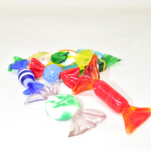 Candy In Glass Murano 9 Pieces