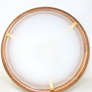 Ceiling Light With Wooden Base,glass Satin White 46 Cm