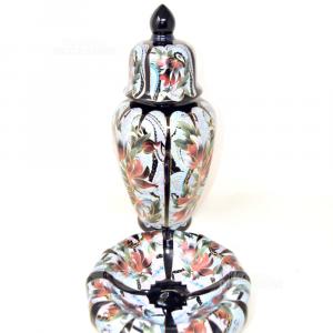 Ceramic Vase + Clear Pockets Decor Andxclusiv Selection Qualitè Black Golden