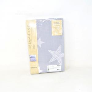 Copripiumone + Pillowcase Per Bed Kids Dreamscene Junior 47x59 Cm Gray Stars New
