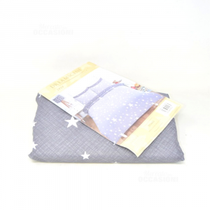 Copripiumone + Pillowcase Per Bed Kids Dreamscene Junior 47x59 Cm Gray Dark Stars