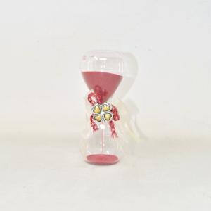 Clessidra In Vetro Con Quadrifoglio 16 Cm