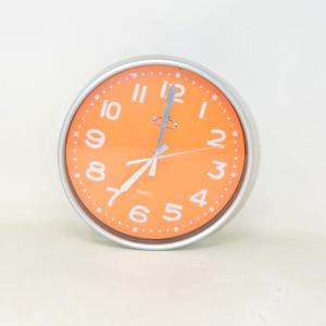 Wall Clock Gray Orange 25 Cm