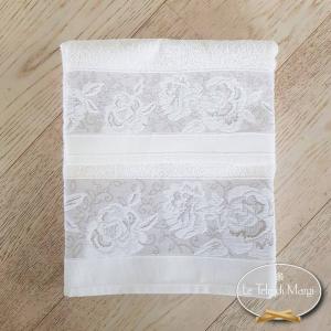 Asciugamani jacquard Rose bianco
