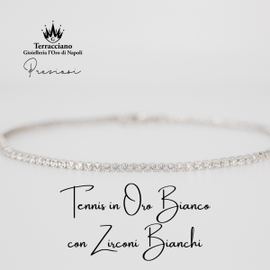 Tennis in Oro Bianco con Zirconi Bianchi