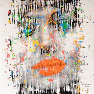 Delasco Pietro Angelina Jolie Serigrafia Formato cm 40x40
