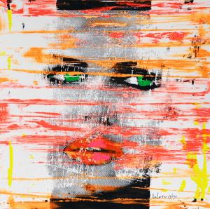Delasco Pietro Charlize Theron Serigrafia Formato cm 40x40