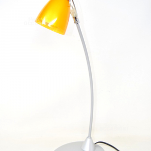 Desk Lamp Base Grey Plastic Orange Direzionale 40w