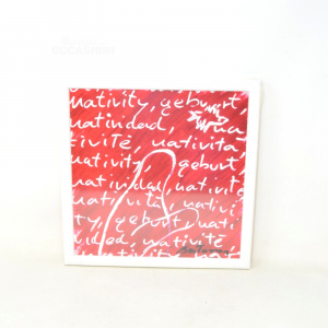 Painting Print Red Written White 30x30 Cm New