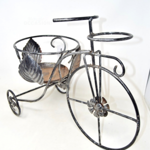 Iron Bicycle Flower Stand 55x40 Cm