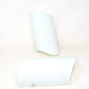 Glass Lamp Satin White 2 Pieces 30x15 Cm