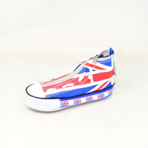 Mini Astuccio A Forma Di All Star Bandiera Inglese 18 Cm