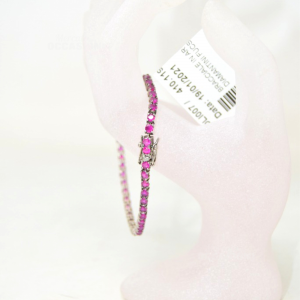 Silver Bracelet Line Diamantini Fuchsia