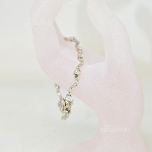 Bracelet Silver With Zircons 18 Cm