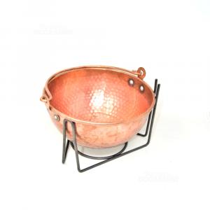 Copper Cauldron Per Polenta (no Engine) 25 Cm