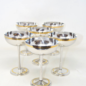 6 Ice Cream Cups Morinoxmade In Italy With Edge Golden
