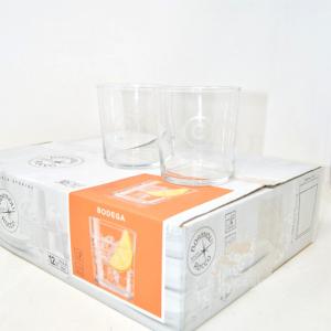Glasses Set Bormioli Rocco 12 Pieces 35.5 Cl Mod.bodega New