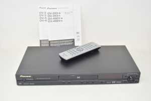 Reader Dvd Pioneer Dv-393 Black With Remote And Instructions