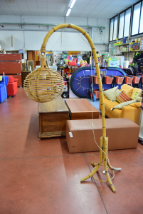 Floor Lamp Lamp Bamboo Working High 185 Cm
