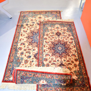 Tris Carpets Rug Brown Bordo Red (140x70 2 Pcs) (90x160 Cm)