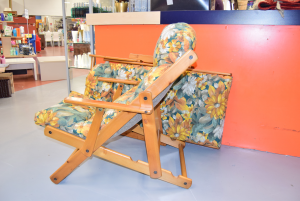 Pair Armchairs With Flowers Pieghevoli Wooden Frame