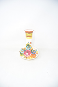 Vase Type Deruta Hand Painted Made In Italy 21 Cm