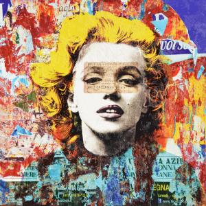 Grittini Giuliano Marilyn 8 Serigrafia Formato cm 91.5x91.5