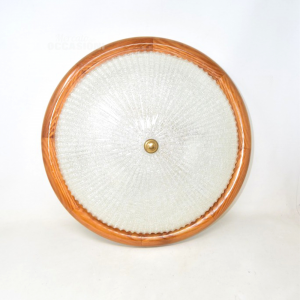 Ceiling Light With Wooden Frame 42 Cm
