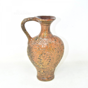 Vaso In Ceramica Marrone 23 Cm