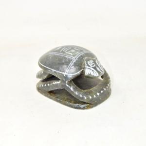 Beetle Egizio In Stone 6.5x9 Cm