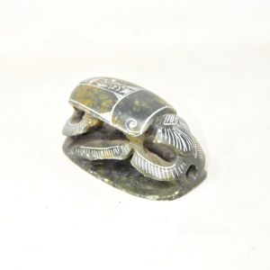 Beetle Egizio In Stone 11x6.5 Cm