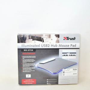 Mouse Pad Illuminato Con 4 Porte Usb Trust Hu-4750