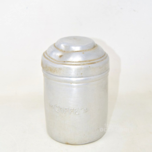 Vase Coffee Aluminum Vintage 15x9.5 Cm
