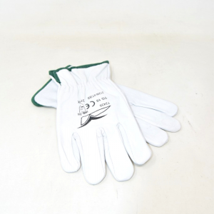 Work Gloves Leather White Size 10