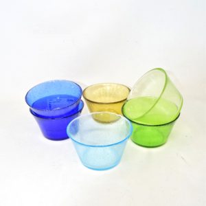 6 Cups Icecream Glass Colored