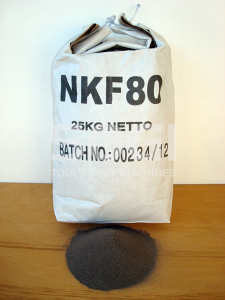 Corindone 25 Kg grana 80 ossido alluminio sabbiatrice sabbia graniglia abrasivo sabbiatura