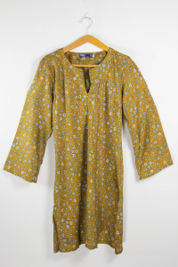 Vestito viscosa corto stile etnico. Shop online