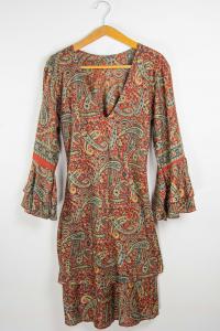 Vestito scollo V. Abbigliamento etnico primavera estate online