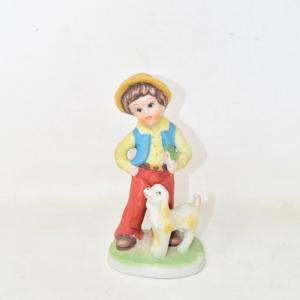 Statuetta Bambino Con Cane 16 Cm