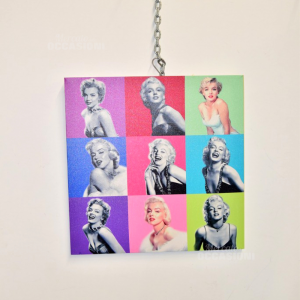 Painting Print Marylin Monroe 9 Squares Colored 50x50 Cm