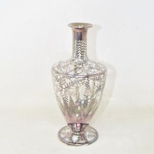 Flower Vase Vintage Painted Silver 19 Cm