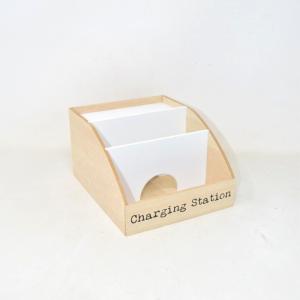 Desk Da Scrivania In Legno Bianco Charging Station