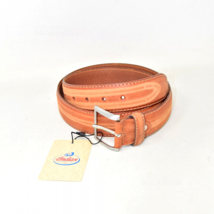 Belt Man In Real Leather Brown