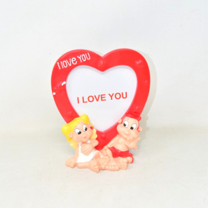 Frame Holder Photo With Pair Lovers Shape Of Heart Red
