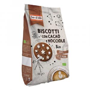 Biscotti con cacao e nocciole Fior di loto