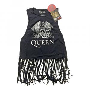Canotta con frange Queen taglia L